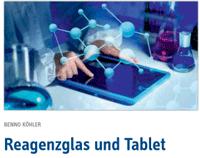 Reagenzglas und Tablet